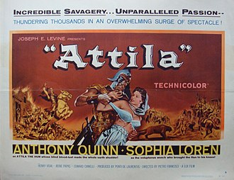 Attila (1954 film) - ATTILA - US Half-Sheet 1958