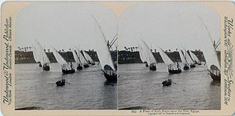Felucca - Image: A Fleet of Arab Boats upon the Nile, Egypt