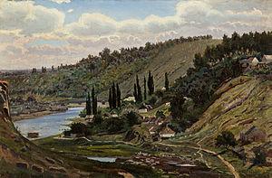 Aleksander Gierymski - Image: A Gierymski Widok znad jeziora Ossiach w Karyntii 1886