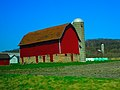 A Silo and a Bright Red Barn - panoramio.jpg