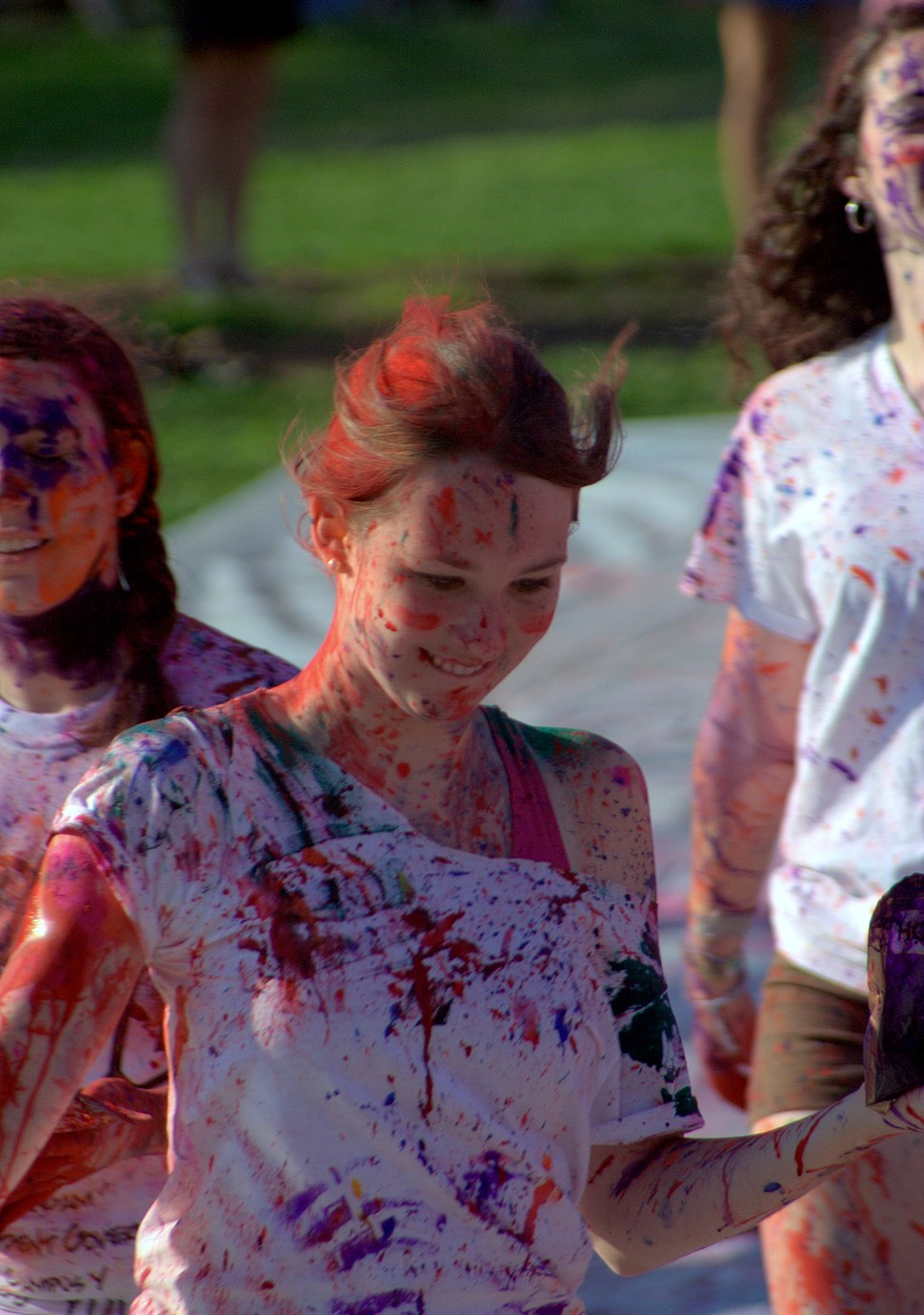 A celebration of Holi festival at UNC college campus United States, March 2011
