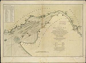Joshua Fisher - 1776 Map of Delaware Bay by Joshua Fisher