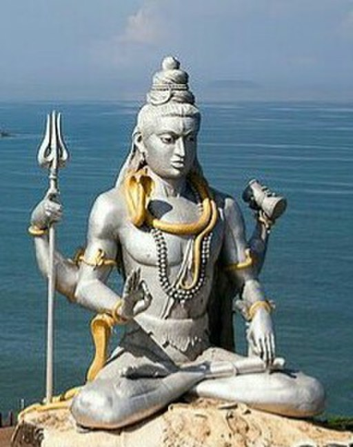 A giant Shiva Statue Murudeshwara Hindu Temple Mangalore Arabian Seacoast India