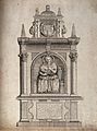 A monument to Lady Margaret Legh who is holding a babe to he Wellcome V0015035.jpg