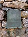 A plaque on the Ronald Harvey cairn - geograph.org.uk - 1450915.jpg
