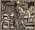 A pregnant woman in bed another figure stands by the bed exp Wellcome V0014902.jpg