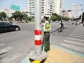 A public security frontier forces soldier on duty in Xiamen October 26,2013.jpg
