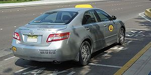 A taxi in Abu Dhabi, UAE