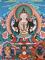 A thangka (religious painting), School of Traditional Arts, Thimphu.jpg