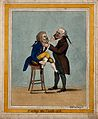 A tooth-drawer extracting a tooth from a patient who is seat Wellcome V0012060ER.jpg