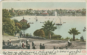 MacArthur Park - Postcard view from the 1900s