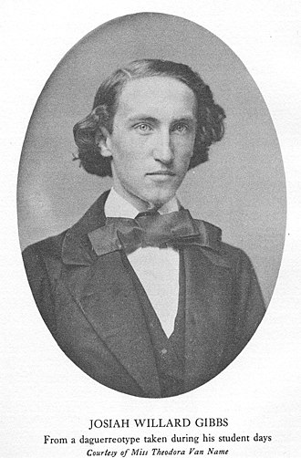 Josiah Willard Gibbs - Willard Gibbs as a young man