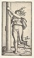 A young woman personifying Force or Strength holding a column MET DP833516.jpg