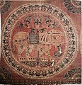 Aachen Cathedral Treasury, cloth with elephants from Karlsschrein.jpg