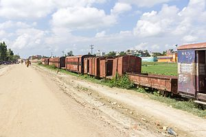 Nepal Railways - Abandoned Train at Janakpur station