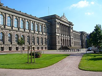 University of Strasbourg - University Palace, main building of the former Imperial University of Strasbourg