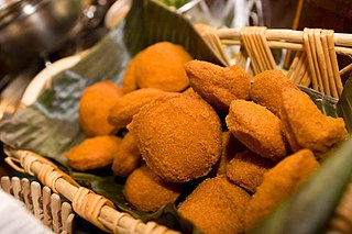 Akara Peeled beans formed into a ball and deep-fried in palm oil