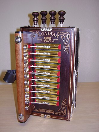 Cajun accordion - Image: Accordion Keys