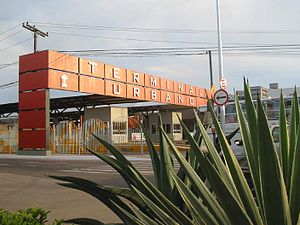 Rio Branco, Acre - The Terminal Urbano bus station is located in the city centre.