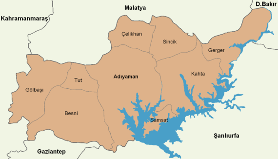 Adıyaman location districts.png