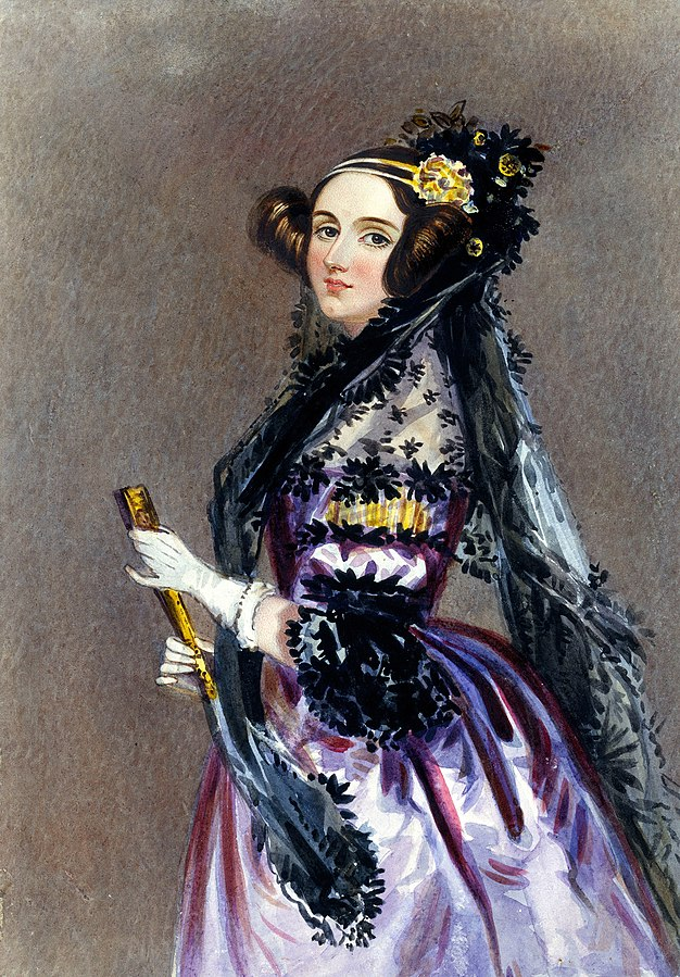 Mathematician-poet Augusta Ada King, Countess of Lovelace, wrote the first algorithm for a 'computing machine'. Credit: Edward Alfred Chalon/Wikimedia Commons