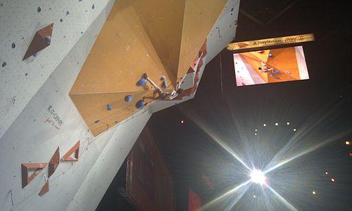 Adam Ondra - Championnats du monde 2012 Bercy - Voie de Finale 05