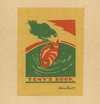 Adrian Feint - Image: Adrian Feint Bookplate Tonys Book