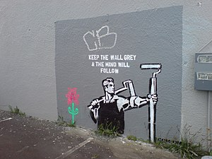English: A wall painting in Auckland City, New...