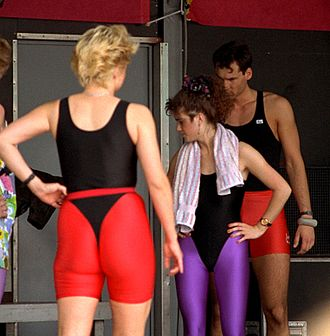 Leotard - Typical aerobic exercise wear of the 1980s