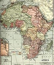 Karte von Afrika im Jahre 1910