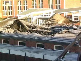 Brigshaw High School - Brigshaw's Sports Hall fire aftermath