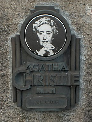 A plaque for the Agatha Christie mile at Torre...