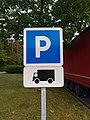 Aire de Ceignes-Cerdon - Panneau parking camions (juil 2018).jpg