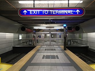Airport station (GCRTA) - Image: Airport station (Cleveland) (3)