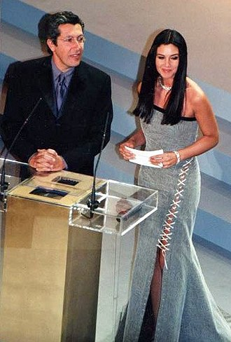 26th César Awards - Award presenters Alain Chabat and Monica Bellucci