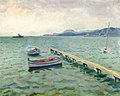 Albert Marquet, 1938 - L'arrivée du bateau postal à Porquerolles.jpg