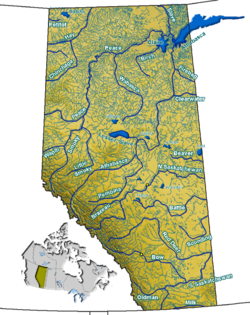 List Of Rivers Of Alberta Wikipedia - List of all rivers in the world