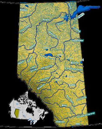 Pembina River (Alberta) - Image: Alberta rivers