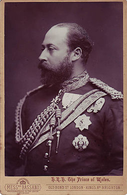 The future king Edward VII was an early guest. Alexander Bassano (1829-1913) - Edward, Prince of Wales, later King Edward VII.jpg