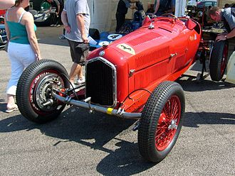 Dubonnet suspension - Alfa Romeo P3 Tipo B with Dubonnet front suspension
