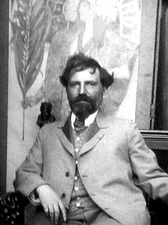 Alphonse Mucha - Mucha in his studio (c. 1899)