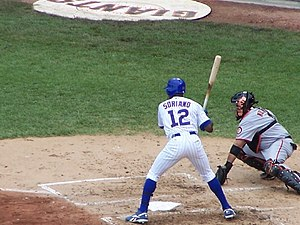 Alfonso Soriano - Soriano at bat against the San Francisco Giants