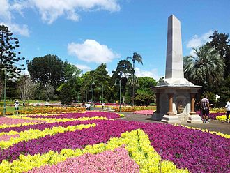 Toowoomba - The Alfred Thomas Memorial in Queens Park during the Carnival of Flowers