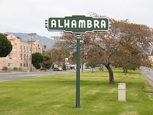 Alhambra, California - Alhambra welcome sign