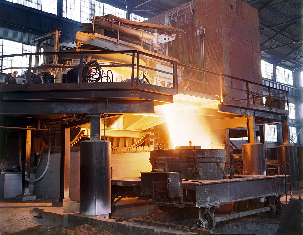Allegheny Ludlum steel furnace