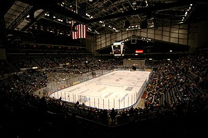 Allen County War Memorial Coliseum - The arena during a Komets hockey game.