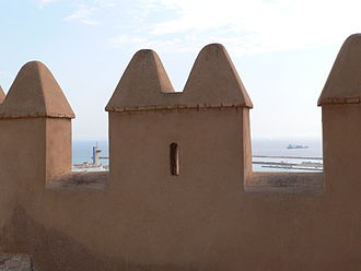 Merlon - Merlons of the Alcazaba in Almería, Spain