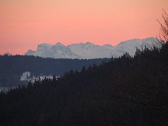 Schauinsland - The Swiss Alps as seen from the Schauinsland