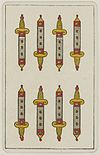 Aluette card deck - Grimaud - 1858-1890 - Eight of Swords.jpg
