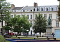 Amiens, Place René Goblet and statue of Charles du Fresne.JPG